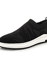 Men's Sneakers Summer Comfort Fabric Casual Flat Heel Black