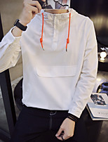 Men's Sports Hoodie Solid Round Neck Micro-elastic Cotton