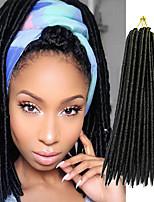 14inch 18inch Faux Locs Crochet Braids Twist Extensions fauxlocs hair African Braiding Kanekalon Soft Dread Locks synthetic hair braiding 1pc