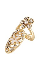 Ring Flower Style Fashion Rhinestone Zinc Alloy Jewelry For Wedding Party Special Occasion 1pc