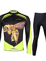 ILPALADINO Maillot et Cuissard Long de Cyclisme Homme Manches longues VéloRespirable Séchage rapide Résistant aux ultraviolets Matériaux