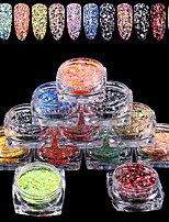 12PCS Nail Art The New Mix Hexagonal Strip Glitter Sequins