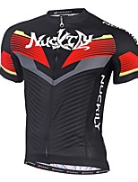NUCKILY® Cycling Jersey with Shorts Men's Short Sleeve BikeBreathable Quick Dry Ultraviolet Resistant Back Pocket 4D Pad Reflective