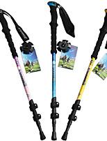 3 Bengalas para Caminhar Nórdicas 135 centímetros (53 polegadas) Húmido Dobrável Peso Leve Ajustável Fibra de CarbonoAcampar e Caminhar