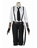 Inspired by Bungo Stray Dogs Cosplay Anime Cosplay Costumes Cosplay Suits Cosplay Tops/Bottoms Fashion Long Sleeve Coat Pants Suspenders