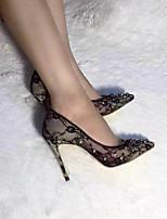 Damen-Loafers & Slip-Ons-Lässig-Stoff-Stöckelabsatz-Komfort-