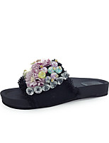 Women's Slippers & Flip-Flops Summer Creepers Fabric Outdoor Dress Casual Creepers Blue Green Black Walking