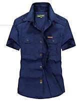 Homens Blusas Pesca Respirável Verão Verde Caçador Khaki Azul Marinho Escuro