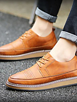 Men's Sneakers Comfort Pigskin Office & Career Light Brown Blue Black