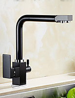 High Quality Brass Antique Oil-rubbed Bronze Water Purifier Function Two Handles One Hole Rotatable Kitchen Sink Faucet