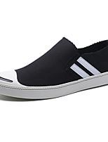 Белый Черный Серый-Для мужчин-Повседневный-ТканьУдобная обувь-Мокасины и Свитер