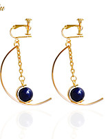 Drop Earrings Earrings Set Earrings Basic Cute Style Handmade Fashion Adorable British Chrismas DIY Alloy Jewelry Dark Blue Jewelry For