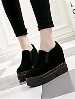 Women's Flats Spring Comfort PU Casual Black White