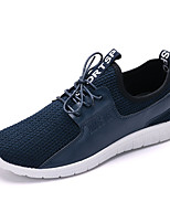 Men's Sneakers Summer Fall Comfort Light Soles Tulle Casual Flat Heel Blue Black Walking
