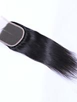 18inch braizlian прямые закрывающие лучшие виргинская бразильская шнуровке отбеленные узлы CLOSURES свободный / средний / закрытие 3part