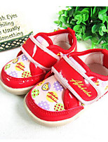 Girls' Baby Flats Comfort Canvas Spring Fall Casual Comfort Flat Heel Coffee Ruby Blue 1in-1 3/4in