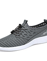 Men's Sneakers Spring Summer Comfort Hole Shoes Tulle Outdoor Athletic Casual Flat Heel Gore Blue Gray Black Running