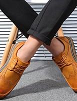 Черный Серый Желтый-Для мужчин-Повседневный-Микроволокно-На плоской подошве-Удобная обувь-Мокасины и Свитер