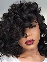 Novo estilo brazilian virgem cabelo glueless laço wigs loose onda laço frente humano cabelo perucas curto wary virgem cabelo peruca para a