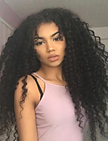Top 250% Density Kinky Curly 360 Lace Frontal Wigs forb Black Women 8''-22'' Brazilian 360 Lace Wigs Virgin Human Hair Natural Hairline with Baby Hair