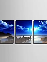 Paysage Moderne Style européen,Trois Panneaux Toile Verticale Imprimer Art Décoration murale For Décoration d'intérieur