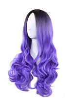 Fashion Sexy Women Wigs Natural Hair Synthetic Wigs High Quality Long Wave Mixed Color Wigs
