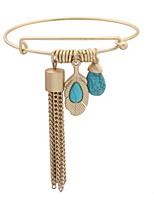 European And American Fashion Tassel Fringe Arrow Form Water Droplets Bracelet