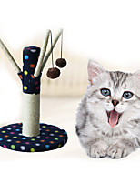 Cat Toy Interactive Scratch Pad Durable Wood Plush Coffee Gray Black