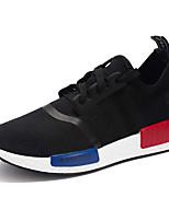 Men's Sneakers Summer Fall Comfort Tulle Outdoor Casual Flat Heel Black/Red Black