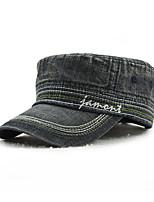 Unisex Men/Women's Cotton Baseball Cap Sun Hat Flat-top Cap Service Outdoors Sports Embroidery Casual Summer All Seasons Black/Blue/Light Blue
