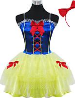Инвентарь Сладкое детство Принцесса Косплей Платья Лолиты Однотонный С короткими рукавами Короткие / Мини Для