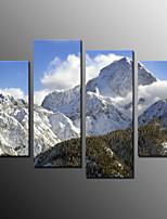 Estampados Fotográfico Paisagem Moderno,4 Painéis Tela Qualquer Forma Impressão artística Decoração de Parede For Decoração para casa