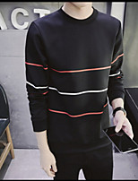 Men's Sports Sweatshirt Solid Round Neck strenchy Rayon