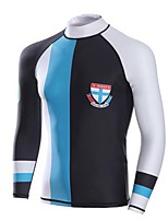 Men's Wetsuit Top Breathable Anatomic Design Compression Sunscreen Chinlon Diving Suit Long Sleeve Tops-Diving Snorkeling Spring Summer