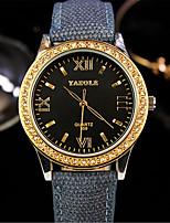 Женские Модные часы Кварцевый Материал Группа Черный Синий Красный Желтый