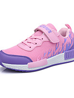 Girls' Sneakers Summer Fall Comfort PU Tulle Outdoor Athletic Casual Flat Heel Buckle