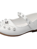 Girls' Flats Spring Fall Comfort Leatherette Wedding Outdoor Office & Career Party & Evening Dress Casual Flat HeelImitation Pearl Rivet