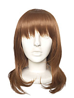 Top Quality Capless Long Brown Natural Wavy Wig Synthetic Fiber Costume Cosplay Hairstyle