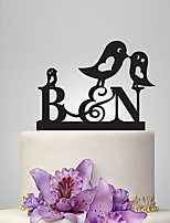 Personalized Acrylic Bird Family Wedding Cake Topper