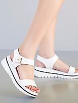 Mulheres sandálias primavera conforto pu casuais