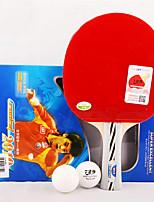 3 Звезд Ping Pang/Настольный теннис Ракетки Ping Pang Дерево Короткая рукоятка Прыщи