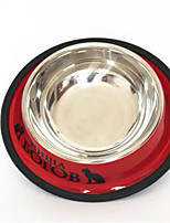 Cat Dog Bowls & Water Bottles Feeders Pet Bowls & Feeding Waterproof Reflective Portable Blue Red