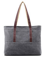 Women Tote Canvas All Seasons Sports Casual Outdoor Office & Career Professioanl Use Hobo Zipper Coffee Gray Beige Blue
