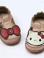 Girls' Baby Flats Comfort PU Spring Fall Casual Comfort Flat Heel White Blushing Pink 1in-1 3/4in