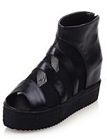Women's Boots Summer Gladiator Comfort Leatherette Dress Casual Platform Split Joint Zipper