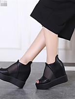 Women's Sandals Summer Mary Jane PU Casual Wedge Heel