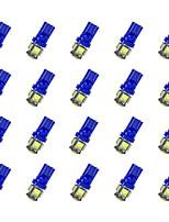 20Pcs T10 5*5050 SMD LED Car Light Bulb Bule Light DC12V