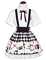 Outfits Sweet Lolita Lolita Cosplay Lolita Dress Fashion Short Sleeve Short / Mini For