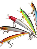 5 pcs Hard Bait Minnow Fishing Lures Hard Bait Minnow Lure Packs Multicolored g/Ounce mm/3-1/2