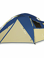 3-4 personnes Tente Double Tente pliable Une pièce Tente de camping 2000-3000 mm Oxford Fibre de verreRésistant à l'humidité Etanche